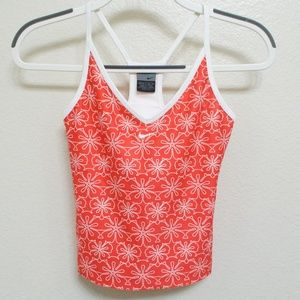 Nike Dri-Fit Athletic Yoga Workout Flower Tank